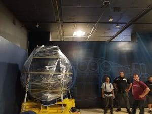 Alvin sphere moved by Victory Van