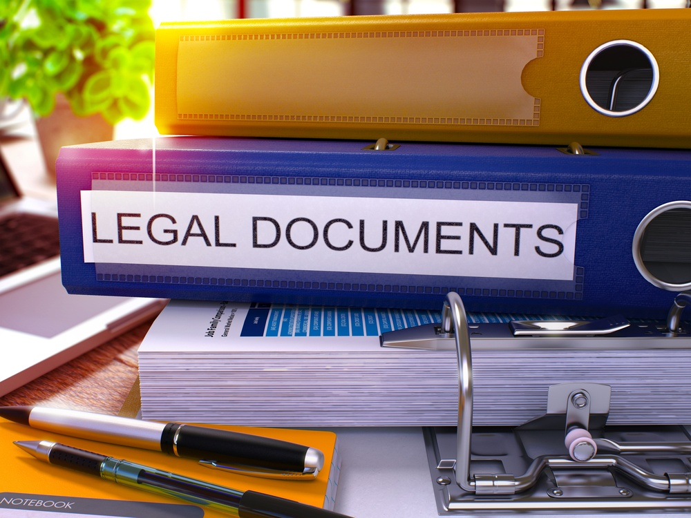Storing legal documents Victory Van