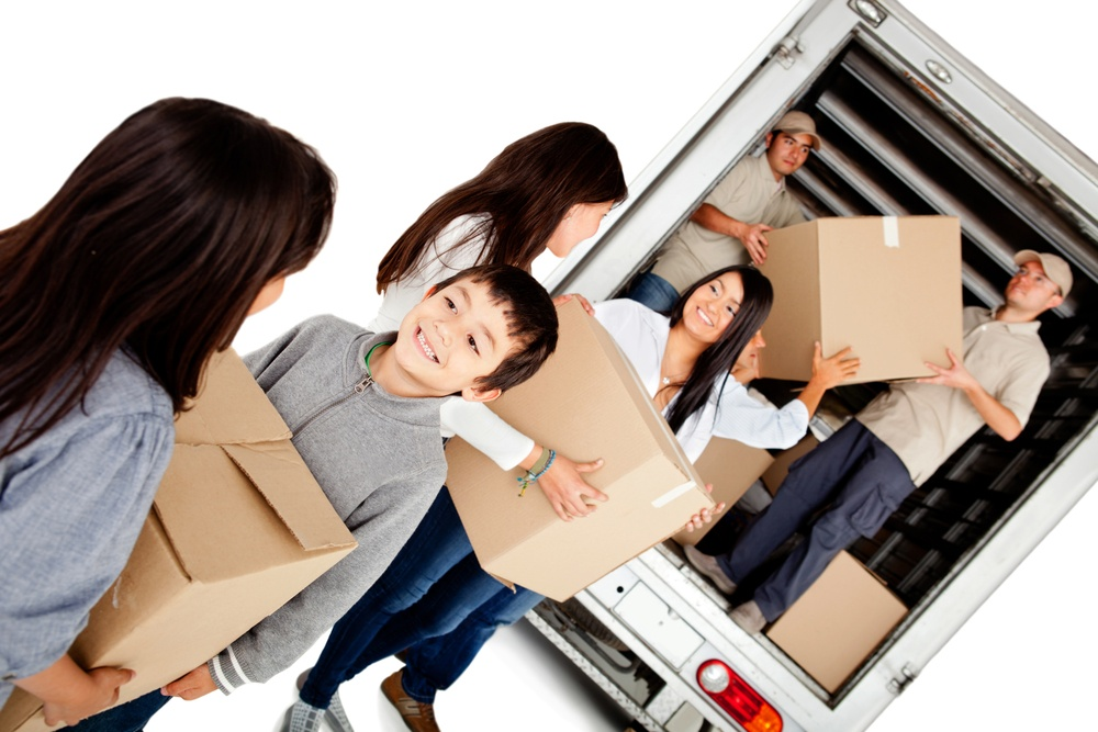 When our moving crew assists you with relocating your home.