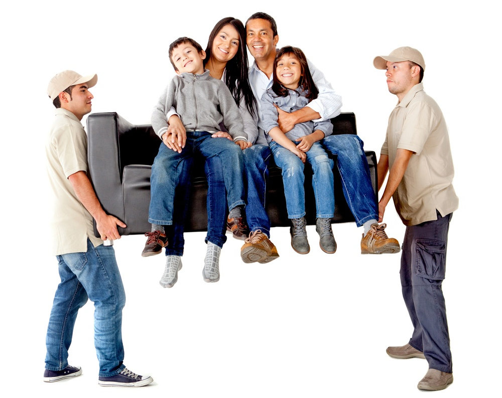 Moving officers providing a home moving service.