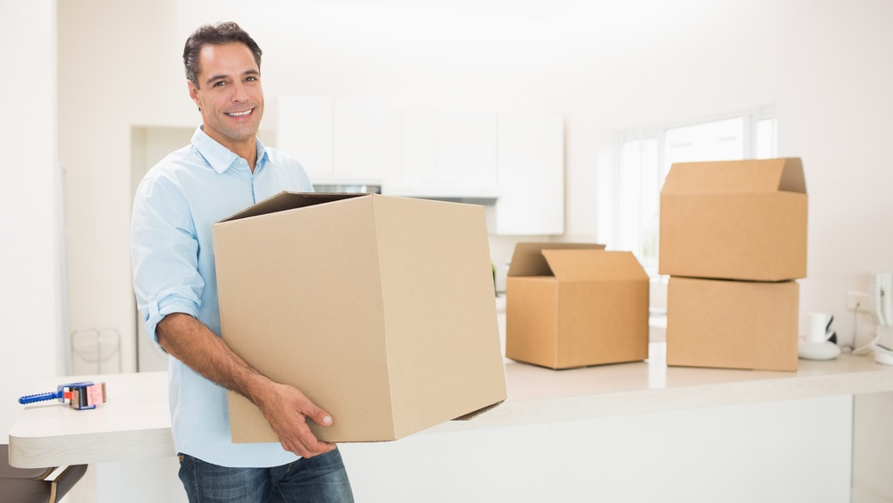 Packing up your home when moving.